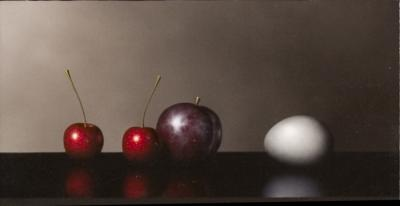 Plum, Cherries and Egg by Clifford T. Bailey