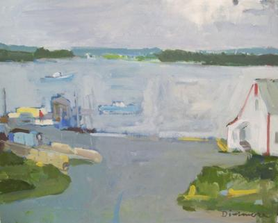 Boats in Harbor by Stephen Dinsmore