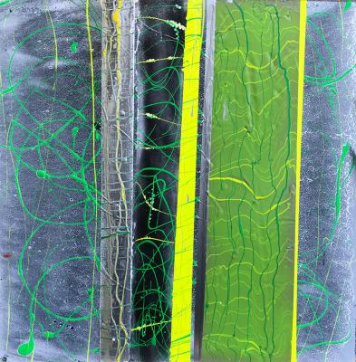 Chemical Reaction Painting No. 124 by Brent Witters