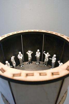 Clap - a mixed media zoetrope by Jamie Burmeister