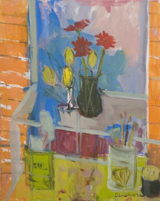 Still Life with Brushes by Stephen Dinsmore