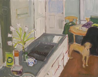 Interior with Dog by Stephen Dinsmore