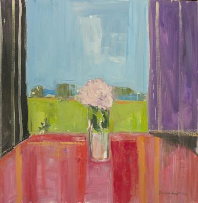 Peony in Window by Stephen Dinsmore