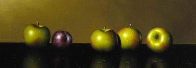 Little Green Apples and Plum by Clifford T. Bailey