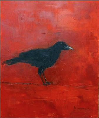 Crow on Red No. 4 by Stephen Dinsmore