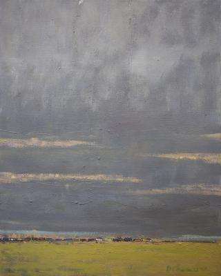 Train on Horizon by Stephen Dinsmore