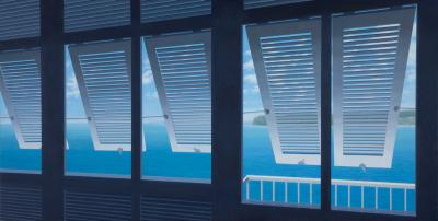 Cote d'Azur Windows by Merrill Peterson
