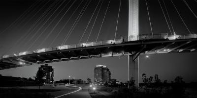 #178-28-6 Bob Kerrey Pedestrian Bridge,  Omaha, NE by Larry Ferguson
