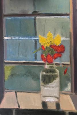 Still Life in Window by Stephen Dinsmore