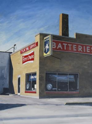 Tire Store by Edwin Carter Weitz