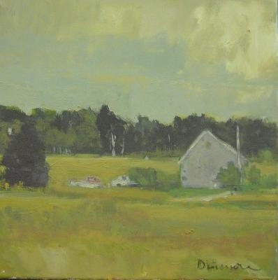 Trucks, Grey Barn by Stephen Dinsmore
