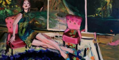 Pink Chair Study by Theresa Pfarr