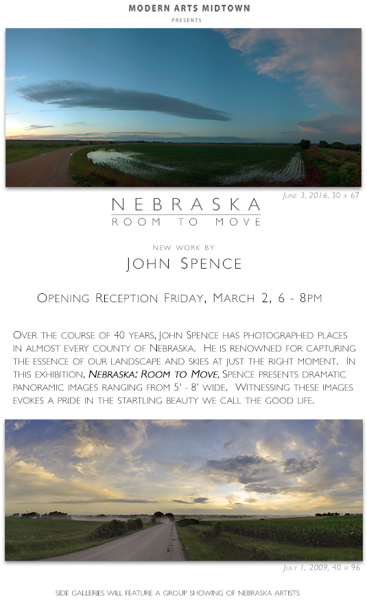 Nebraska: Room to Move, new work by John Spence