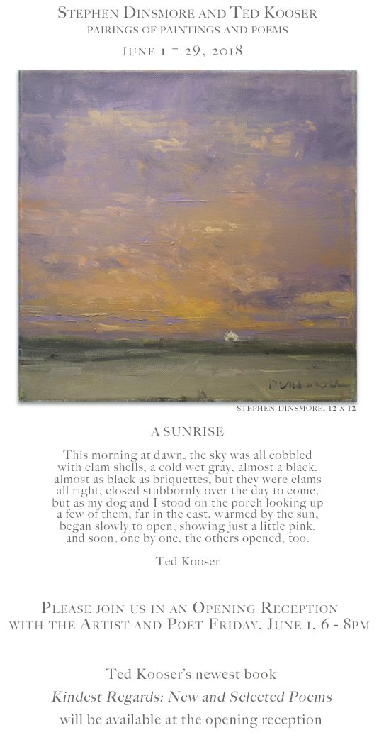 Stephen Dinsmore and Ted Kooser: Pairings of Paintings and Poems